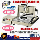1.5KW VFD USB 4Axis 6040 CNC Router Engraver Drilling Milling Machine+Controller