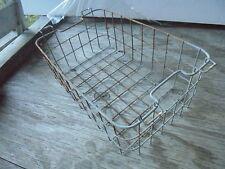 Vintage Wire chest freezer galvanized basket,  12x19x7 tall, storage, utility