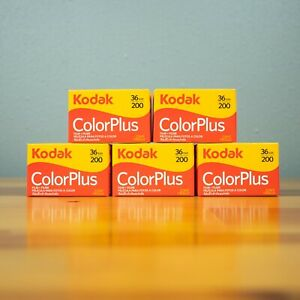5 Rolls Kodak ColorPlus 200 asa 36 Exp Color Negative 35mm Film