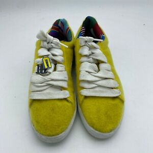 Puma Dee & Ricky X Basket Collaboration Yellow-White Low Top - Size US9.5