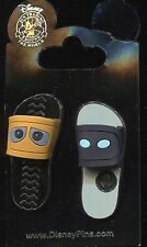 Sandals Flip Flops Wall-E and Eve 2 Pin Set Disney Pin 110126