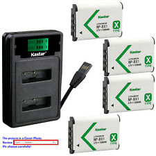 Kastar Battery LZD2 Charger for Sony NP-BX1 BC-CSX & Sony Cyber-shot DSC-WX350