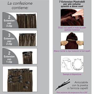 7 EXTENSION SET ALLUNGAMENTO FASCIA PIASTRABILI termofibra 55cm 14 CLIPS