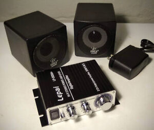 ORIGINAL Lepai LP-2020A+ Tripath TA2020 Class-Audio Amplifier Bundle W/ Speakers