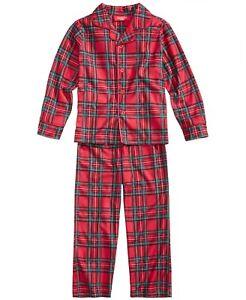 Family Pajamas Unisex Big Kids' Brinkley Plaid Pajama Set S Small (6-7)