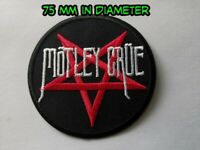 Motley Crue Patch Sew / Iron On Music Festival Embroidered Badge
