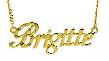 18K Gold Plated Necklace With Name BRIGITTE - Gifts For Her Christmas Ideas 18ct