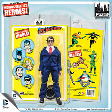 Official DC Comics Clark Kent 8 inch Action Figure on Mego Style Retro Card