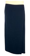 Womens TanJay Blue Skirt Plus Size 22W Fully Lined Front Slit Hidden Zipper NWT
