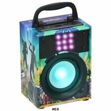 Cassa Altoparlante Speaker Bluetooth con Effetti Luce LED Portatile USB AUX MP3