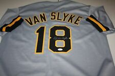 PITTSBURGH PIRATES ANDY VAN SLYKE #18 SIGNED AUTO CUSTOM ROAD JERSEY JSA CERT