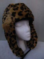 Nine West Faux Fur Fleece Lined Bomber Hat $46 Leopard Soft Warm Winter Style