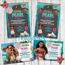 Personalised MOANA Maui Photo Birthday Party Invite Invitations Card Custom
