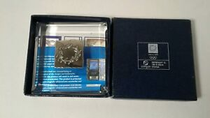 925 Sterling Silver Stamp 2004 Athens Greece Olympics Aohna Paperweight Official