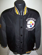 PITTSBURGH STEELERS Snap Down Varsity Franchise Jacket BLACK & Gray M,  XL, 2X