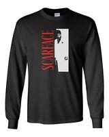 Scarface Custom Mens Long Sleeve T-Shirt Tee New-Black