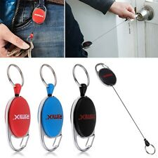 4Pcs Retractable Recoil Key Ring Pull Keychain Badge ID Card Holder Belt Clip
