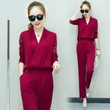 ebb091297af Fashion Two Piece Set For Women Long Sleeve Lace Work Clothes