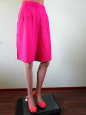 Womens Vtg 80s Pink Tailored Formal Business High Waist Linen Shorts sz XL LW33