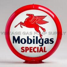 "Mobilgas Special 13.5"" Gas Pump Globe w/ Red Plastic Body (G149)"