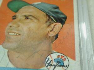 1958 Yogi Berra Signed #370 Certified PSA Good 2