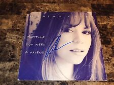 "Mariah Carey Hand Signed 12"" Vinyl Record Anytime You Need A Friend Autographed"