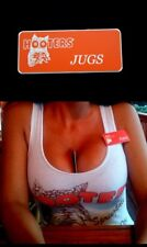 Hooters Girl Uniform Jugs Name Tag Pin Badge Lingerie Halloween costume extra