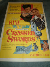 CROSSED SWORDS(1954)ERROL FLYNN ORIG 1SHEET POSTER!