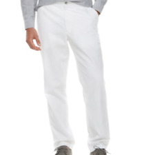NEW MARC ANTHONY WHITE LINEN BLEND PANTS MENS 40X30 SLIM FIT  FREE SHIP