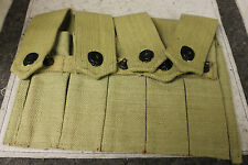 WWII THOMPSON 5 CELL MAGAZINE POUCH - KHAKI - REPRODUCTION
