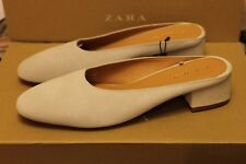 New Zara Shoes Split Suede Heeled Slides Size 9   Second item will ship for free