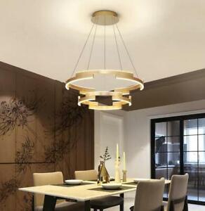 Creative GOLD Rings Suspension Lamp LED Hanging Lighting Pendant Chandelier New