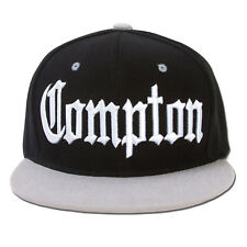 AF Snaps Compton City Snapback Hat Cap - Black / Grey