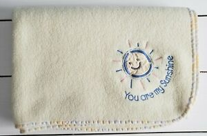 Just Born You Are My Sunshine Baby Blanket Yellow Sun Security Blanket Lovey USA