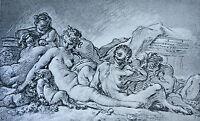 Engraving François Boucher Collection Albertine (Vienne) Ad Braun & Cie 1856