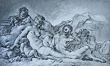 Gravure François Boucher Collection Albertine ( Vienne ) AD Braun & Cie 1856