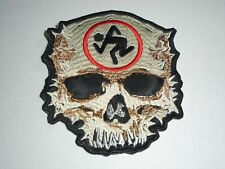 DIRTY ROTTEN IMBECILES D.R.I.SKULL EMBROIDERED PATCH