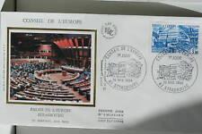 ENVELOPPE PREMIER JOUR SOIE 1984 CONSEIL DE L'EUROPE