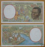 ECCAS Central African Republic Banknote (F) 1000 Francs UNC