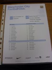 10/03/2014 Manchester City U21 v Southampton U21  (single sheet). Thanks for vie
