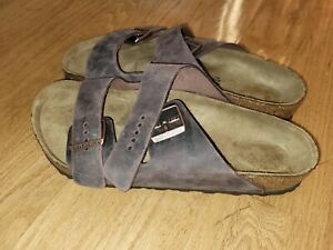 Birkenstock Men's Arizona Oiled Leather Sandals Color Habana Size 12-12.5