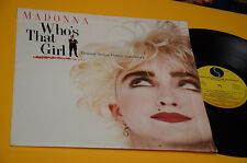 MADONNA LP WHO'S THAT GIRL 1° STAMPA ORIGINALE ITALIA 1987 NM ! TOP SHRINK !