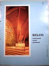 Vtg RILCO Glue Laminated Wood Timber Structures RETRO Catalog Arches Beam 1963