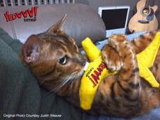 YEOWWW! BANANA CAT TOY! ~ FREE 1st CLASS POST~  LASTS AGES! 100% ORGANIC CATNIP