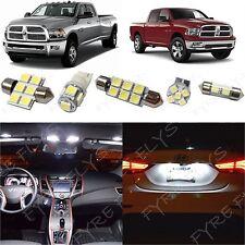8x White LED lights interior package kit for 2009-2015 Dodge Ram DR1W