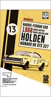 """HOLDEN HK MONARO GTS 327 POSTER - BATHURST WINNER 1968 - 91 x 61 cm 36"""" x 24"""""""