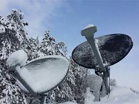 Exede and Hughes Net Satellite dish cover. Reduce snow and ice on your dish.