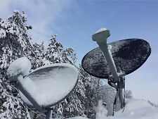 Satellite dish cover.  reduce snow and ice on all directv and Dish Network
