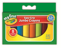 Crayola My First Easy Grip 8 Jumbo Wax Crayons - Ideal for little hands- 81-8103