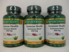 3 NATURE'S BOUNTY IMMUNE HEALTH - 450mg ECHINACEA BLEND 100 CAPS EX 6/22 SH 1400